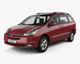3D model of Toyota Sienna CE 2004