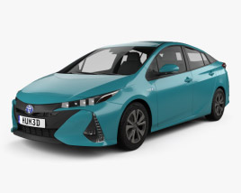 3D model of Toyota Prius Prime 2016