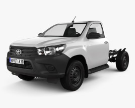 3D model of Toyota Hilux Workmate Single Cab Chassis 2015