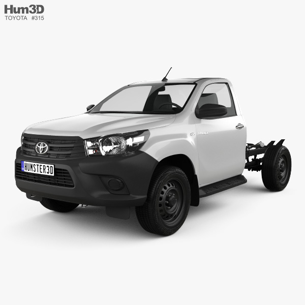 Toyota Hilux Workmate Single Cab Chassis 2015 3D model