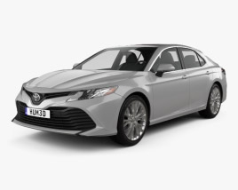 3D model of Toyota Camry XLE hybrid 2017