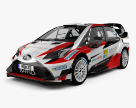 3D model of Toyota Yaris WRC 2017