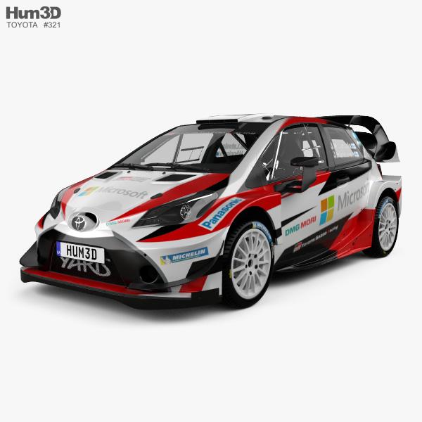 Toyota Yaris WRC 2017 3D model