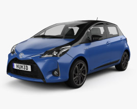 3D model of Toyota Yaris Hybrid Bi-Tone 2017