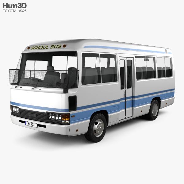Toyota Coaster School Bus 1983 3D model