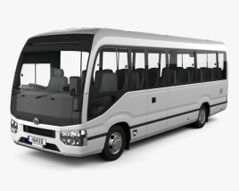 3D model of Toyota Coaster Deluxe Bus 2016