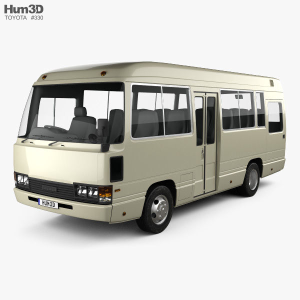 3D model of Toyota Coaster Bus 1983