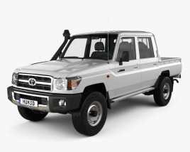 3D model of Toyota Land Cruiser J79 Double Cab Pickup 2012