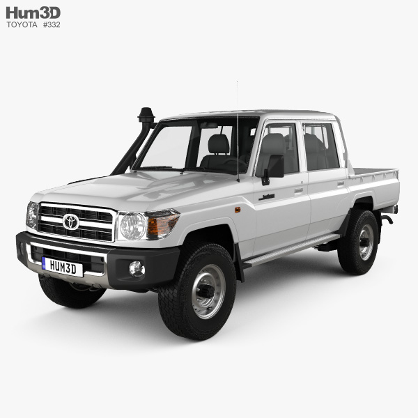 Toyota Land Cruiser J79 Double Cab Pickup 2012 3D model