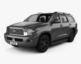 3D model of Toyota Sequoia TRD Sport 2018