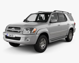 3D model of Toyota Sequoia Limited 2004