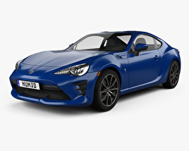 3D model of Toyota GT86 US-spec 2017