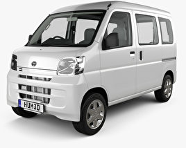 Toyota Pixis Van HQインテリアと 2011 3Dモデル