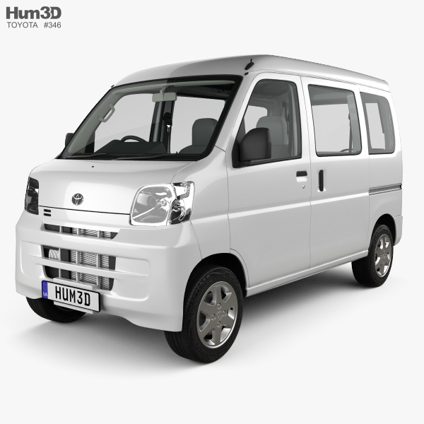 Toyota Pixis Van with HQ interior 2011 3D model