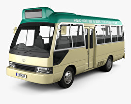 3D model of Toyota Coaster Hong Kong Bus 1995