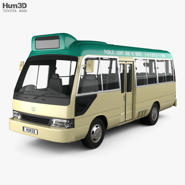 Toyota Coaster Hong Kong Bus 1995 3D model