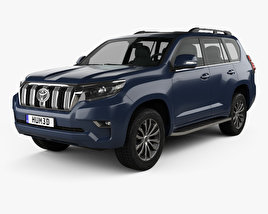 3D model of Toyota Land Cruiser Prado 5-door EU-spec 2018