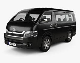 3D model of Toyota Hiace Passenger Van L1H2 GL 2013