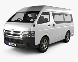 3D model of Toyota Hiace Passenger Van L1H3 DX 2013