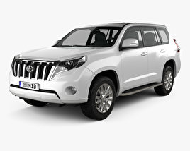 3D model of Toyota Land Cruiser Prado 5-door EU-spec 2013