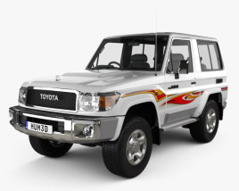 3D model of Toyota Land Cruiser 3-door VXR 2017