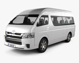 3D model of Toyota Hiace Passenger Van L2H3 GLX 2013