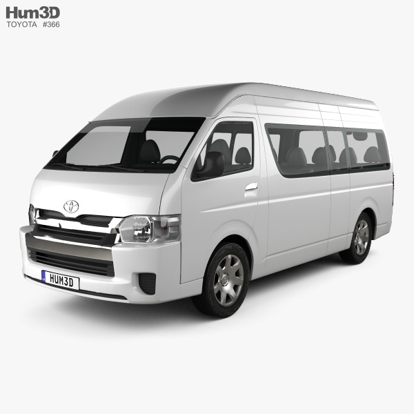 Toyota Hiace Passenger Van L2H3 GLX 2013 3D model