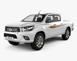 3D model of Toyota Hilux Double Cab GLX 2015