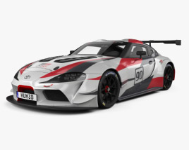 3D model of Toyota Supra Racing 2018