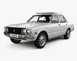 3D model of Toyota Corona sedan 1975