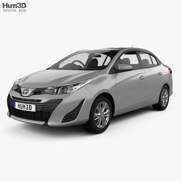 Toyota Yaris TH-spec sedan 2018 3D model
