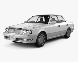 3D model of Toyota Crown hardtop 1997