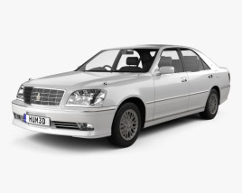 3D model of Toyota Crown Royal Saloon 2001