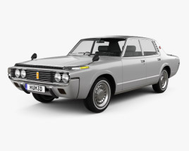 3D model of Toyota Crown sedan 1971