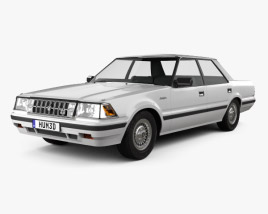 3D model of Toyota Crown Royal Saloon 1983