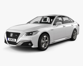 3D model of Toyota Crown RS Advance 2018