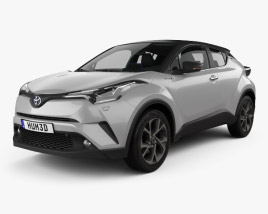 3D model of Toyota C-HR with HQ interior 2017