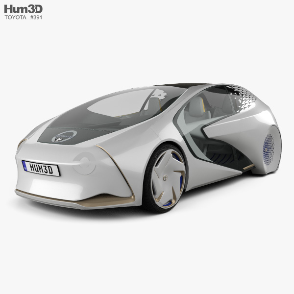 Toyota Concept-i with HQ interior 2017 3D model