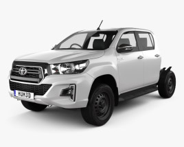 3D model of Toyota Hilux Double Cab Chassis SR 2019