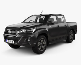 3D model of Toyota Hilux Double Cab L-edition 2019
