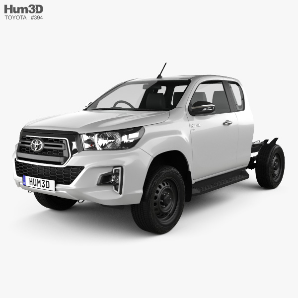 Toyota Hilux Extra Cab Chassis SR 2019 3D model