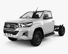 3D model of Toyota Hilux Single Cab Chassis SR 2019