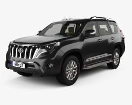 3D model of Toyota Land Cruiser Prado VXR 5-door with HQ interior 2016