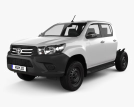 3D model of Toyota Hilux Double Cab Chassis 2015