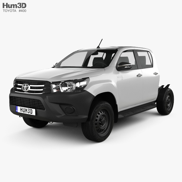 Toyota Hilux Double Cab Chassis 2015 3D model