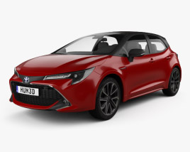 3D model of Toyota Corolla hatchback hybrid 2018