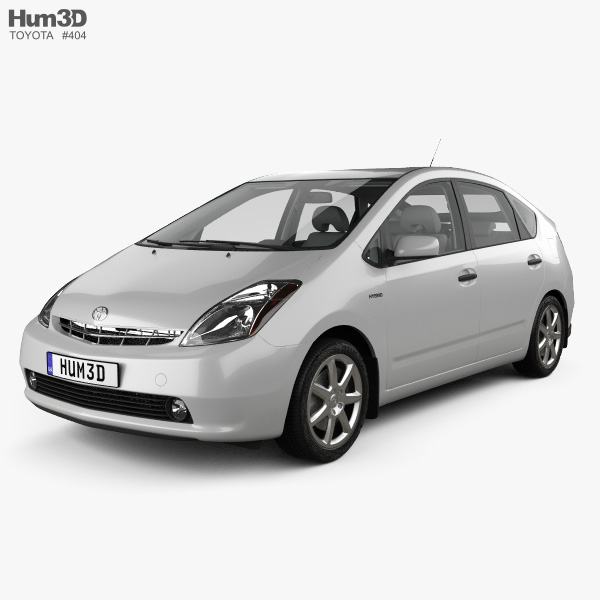 Toyota Prius with HQ interior and engine 2003 3D model