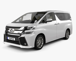 3D model of Toyota Vellfire Aero with HQ interior 2015