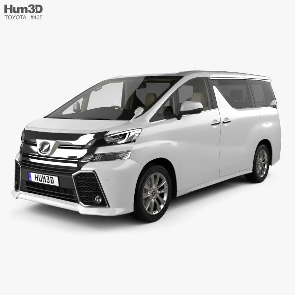 Toyota Vellfire Aero with HQ interior 2015 3D model