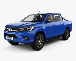 3D model of Toyota Hilux Double Cab SR5 with HQ interior 2015